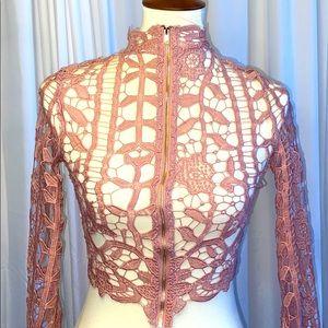 Crocheted Crop Jacket